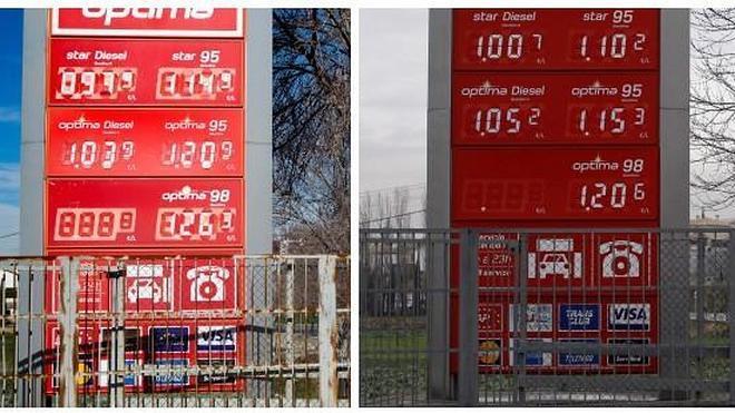 La gasolina, al precio de hace seis años