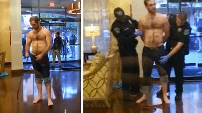 Un policía confunde el pene erecto de un detenido con un arma