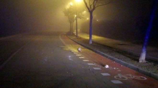 Tres menores colocaron piedras en la carretera y provocaron varios accidentes
