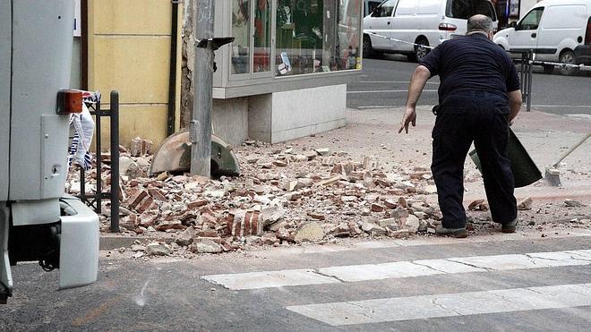 Los destrozos del terremoto en Melilla