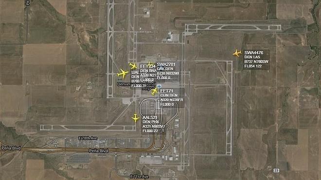 """Evacúan de urgencia el aeropuerto de Denver por una """"posible amenaza a la seguridad"""""""