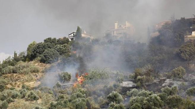 El fuego arrasa en Dúdar más de 9 hectáreas de arbolado y matorral