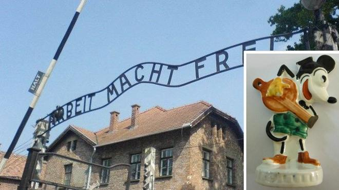 Descubren una misteriosa estatuilla de Mickey Mouse en Auschwitz