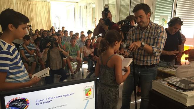 Alumnos del colegio Almadén de Jaén conectan por radio con la Estación Espacial Internacional