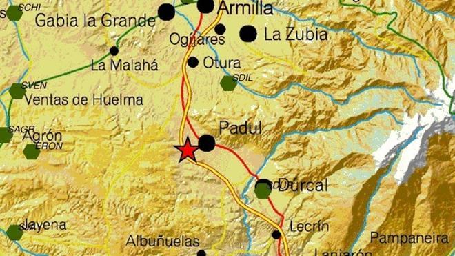 Un terremoto en Padul alarma a media Granada