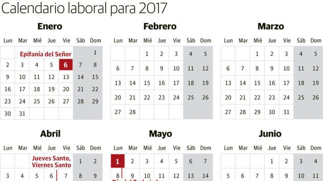 Oficial: Calendario Laboral de 2017, todas las fiestas por Comunidades Autónomas