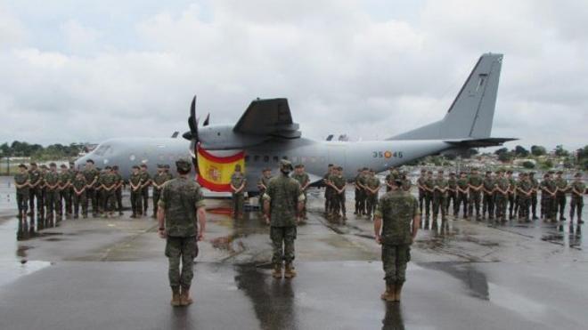Más de 2.200 horas de vuelo lleva realizadas el destacamento español en Gabón