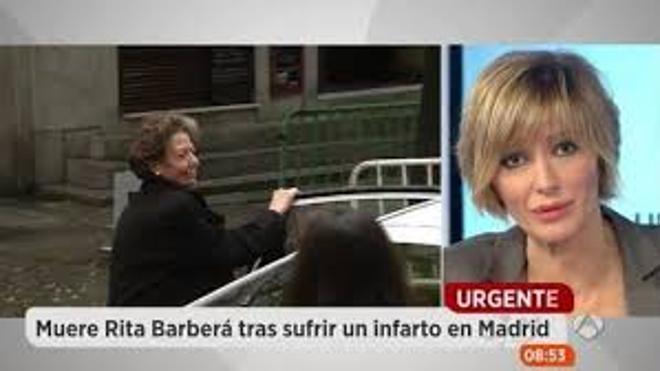 """El sentido perdón de Susanna Griso a Rita Barberá: """"Lo siento"""""""