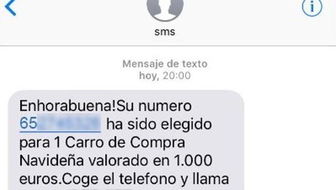 ¿Has recibido este SMS con el regalo de un carro navideño?