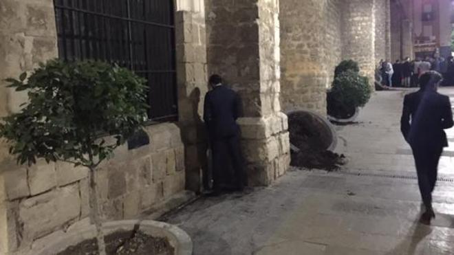 Un hombre de 55 años, presunto autor del vandalismo en la Plaza de San Ildefonso