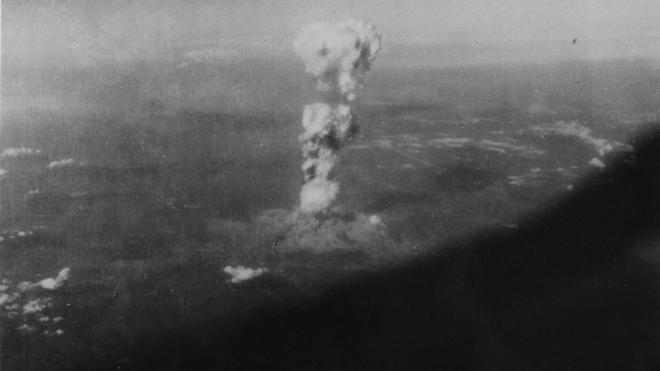 Sale a la luz una imagen inédita de la bomba atómica en Hiroshima
