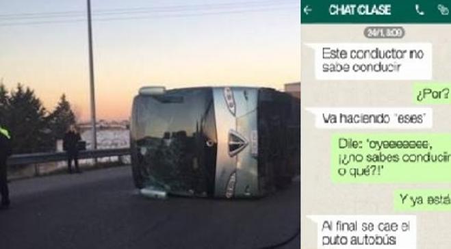 Salen a la luz los WhatsApp de los niños que predijeron el accidente de autobús