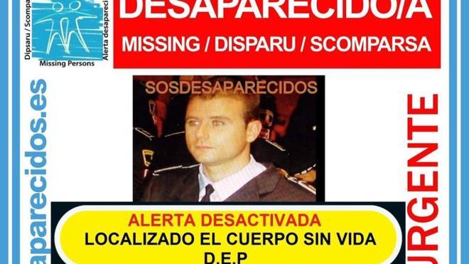 Hallan muerto al agende de Policía Local desaparecido el pasado lunes