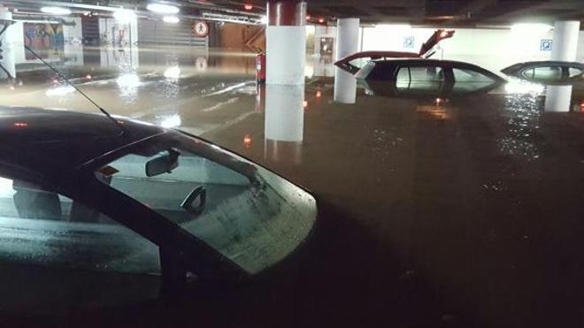 La lluvia vuelve a inundar Málaga