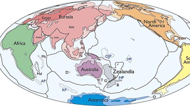 Descubren Zelandia, un continente sumergido bajo el océano Pacífico
