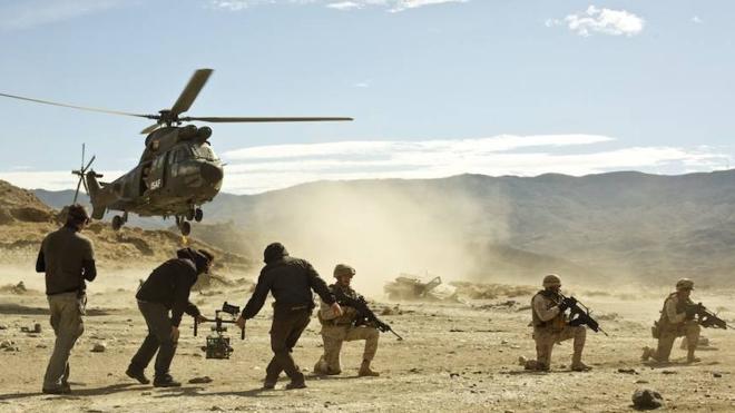 Zona hostil, el film bélico rodado en Almería se verá en cines de China, Japón o Francia