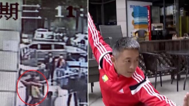 Un obrero cae de un andamio a 8 metros y le salva la vida un maestro de artes marciales agarrándole al vuelo