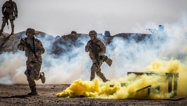 La Policía de Fronteras iraquí demuestra sus capacidades en dos ejercicios