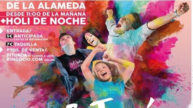 El Auditorio de la Alameda acoge este sábado la tercera edición del festival del color Holi Jaén