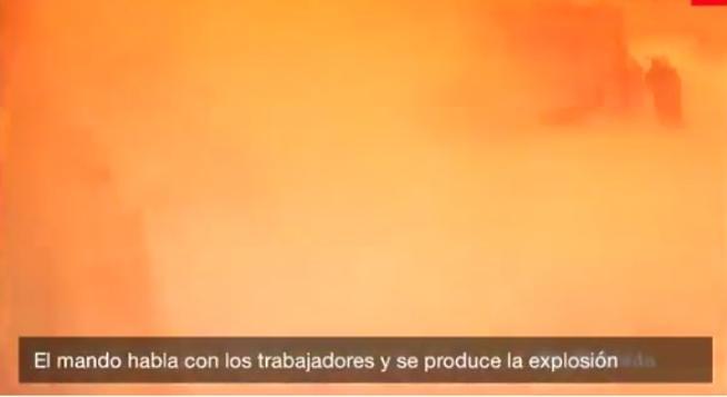 El impactante vídeo de la brutal explosión en Madrid que expulsó a los bomberos