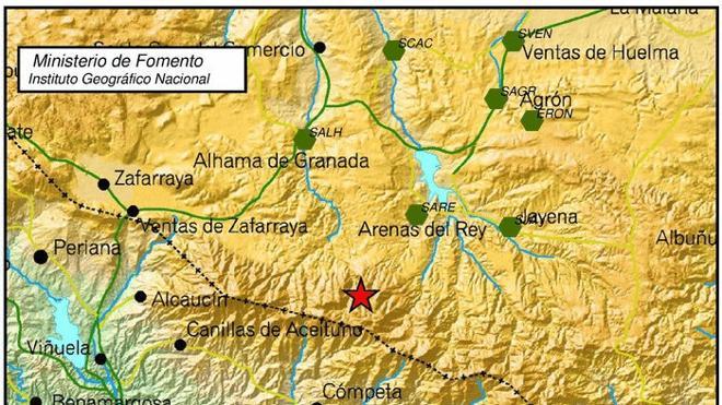 Un terremoto de 4.3 sacude Arenas del Rey