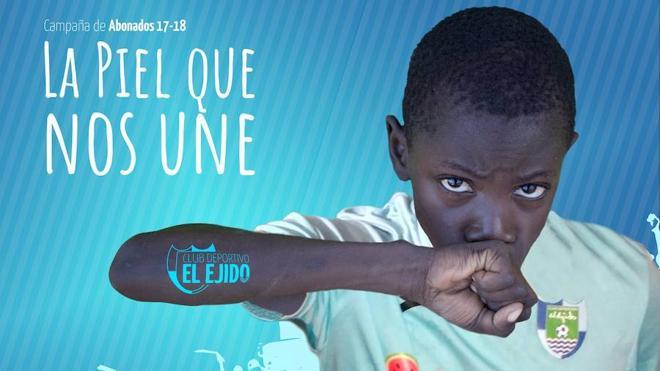 'La Piel Que Nos Une', el lema de la campaña de abonos del CD El Ejido